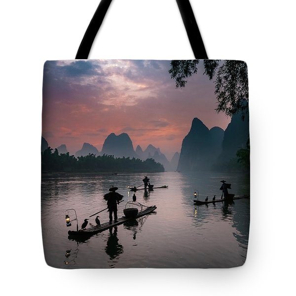Waiting For Sunrise On Lee River. Tote Bag