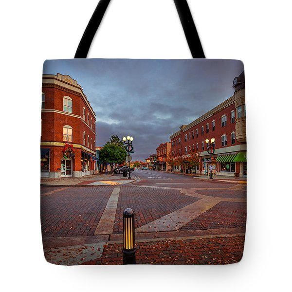 Dawn On Park Street Tote Bag by Tim Bryan