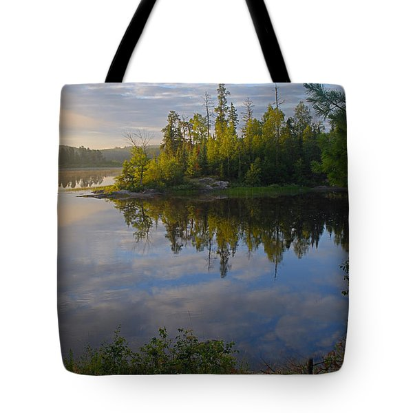 Dawn On The Basswood River Tote Bag