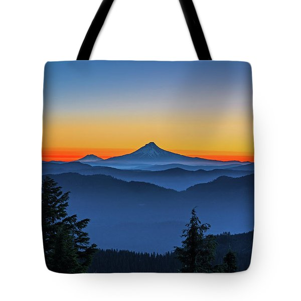 Dawn On The Mountain Tote Bag