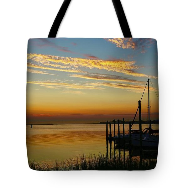Dawn Over The Bay Tote Bag