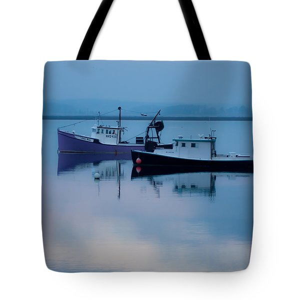 Tote Bag featuring the photograph Dawn Rising Over The Harbor by Jeff Folger