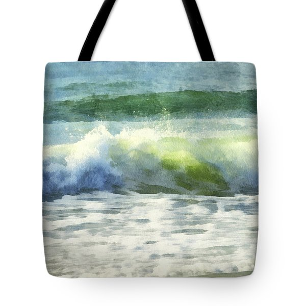 Tote Bag featuring the digital art Dawn Wave by Francesa Miller