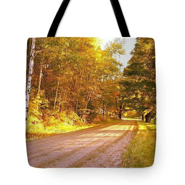Dawns Golden Light This Past Fall In Tote Bag