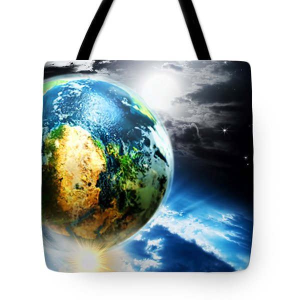 Day 4 Tote Bag by Lourry Legarde