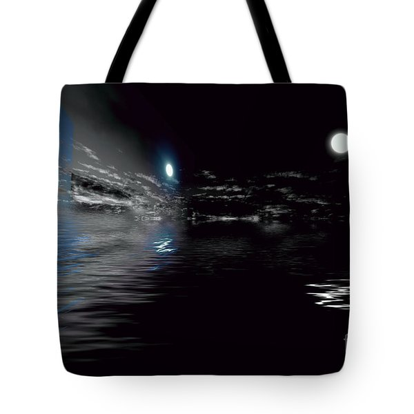 Day And Night Clouds Tote Bag by Elaine Hunter