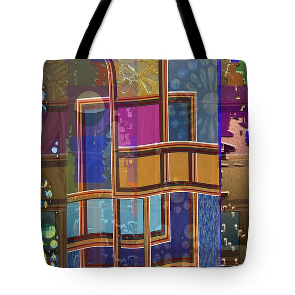 Day And Night Collage Photography Abstract Art From Church Walls Moon Hightide N Graphic Window View Tote Bag