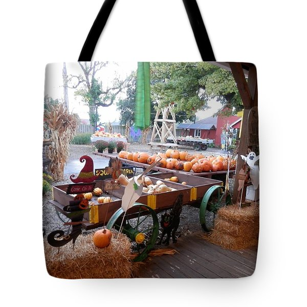 Day At The Pumkin Farm Tote Bag