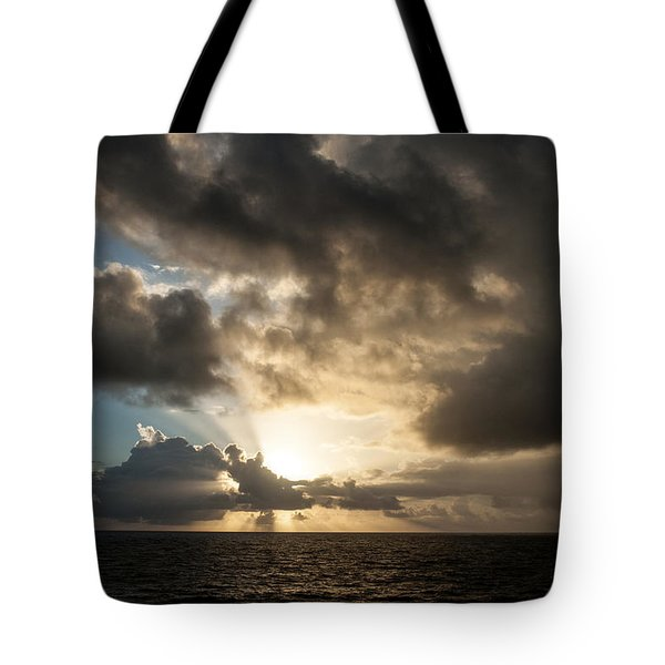 Tote Bag featuring the photograph Day Break by Allen Carroll