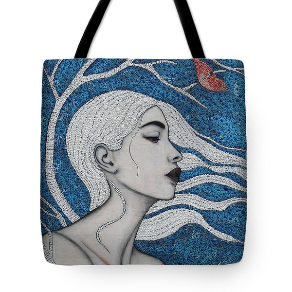 Tote Bag featuring the mixed media Day Dreamer by Natalie Briney