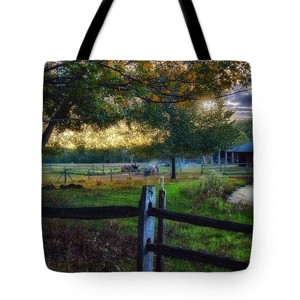 Day Is Nearly Done Tote Bag
