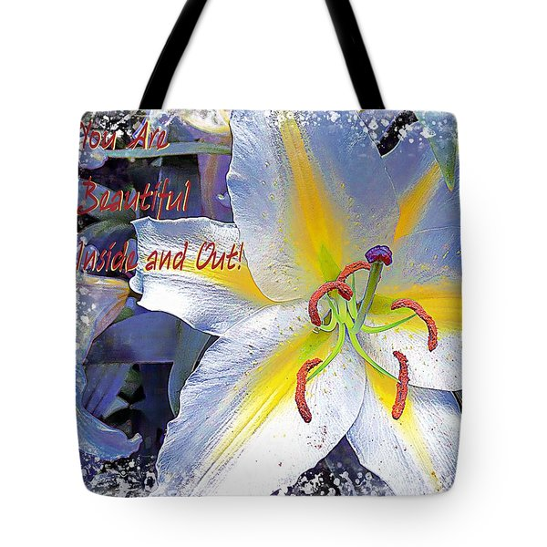 Day Lily Beauty Tote Bag