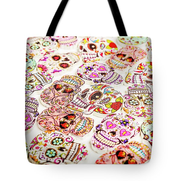 Day Of The Dead Colors Tote Bag