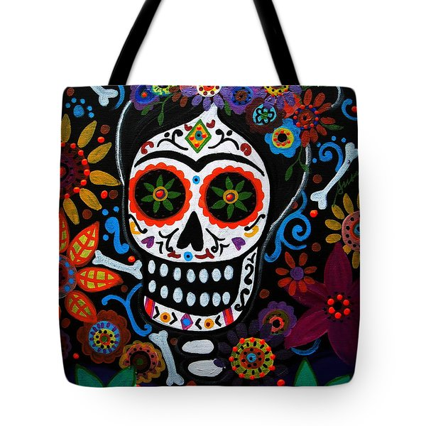 Day Of The Dead Frida Kahlo Painting Tote Bag