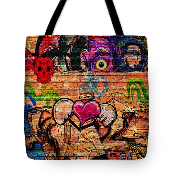 Day Of The Dead Street Graffiti Tote Bag