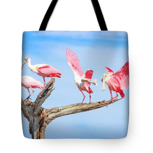 Day Of The Spoonbill  Tote Bag