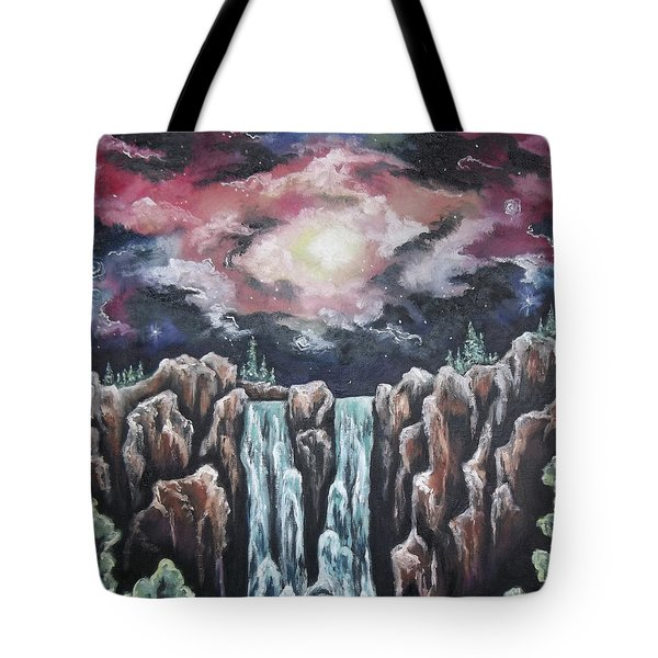 Day One, The Beginning Tote Bag by Cheryl Pettigrew