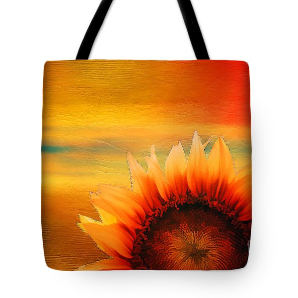 Tote Bag featuring the digital art Daybreak 2017 by Kathryn Strick