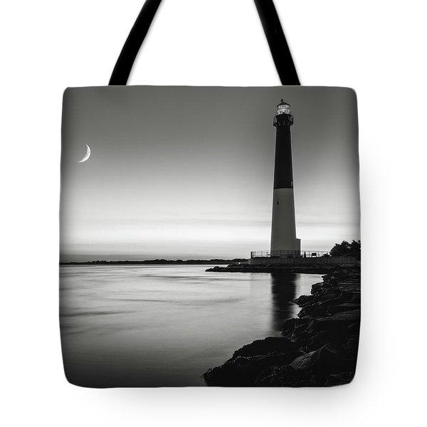 Daybreak At Barnegat, Black And White Tote Bag by Eduard Moldoveanu