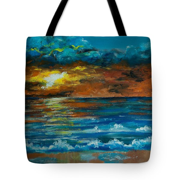 Tote Bag featuring the painting Daybreak by Elizabeth Mundaden