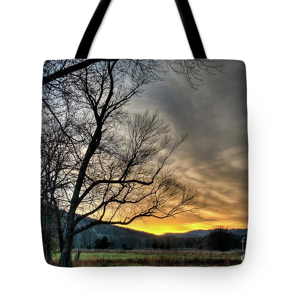 Daybreak In The Cove Tote Bag by Douglas Stucky