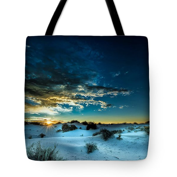 Daybreak At White Sands Tote Bag