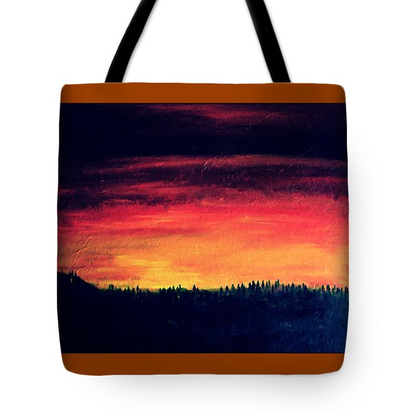 Daybreak Number Four Tote Bag by Scott Haley