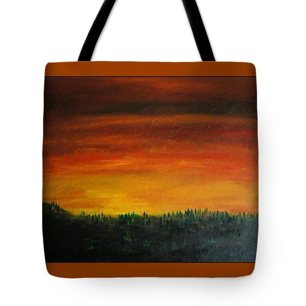 Daybreak Number Three Tote Bag by Scott Haley