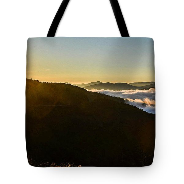 Daylight Above The Clouds Tote Bag