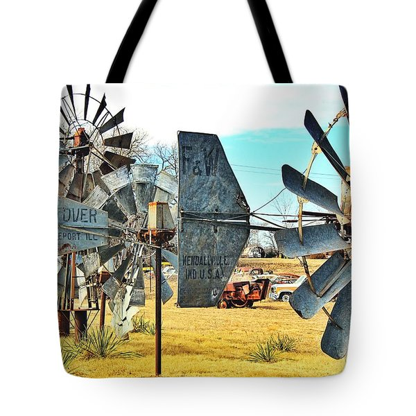 Daylight In The Garden Of Rust And Metal Tote Bag