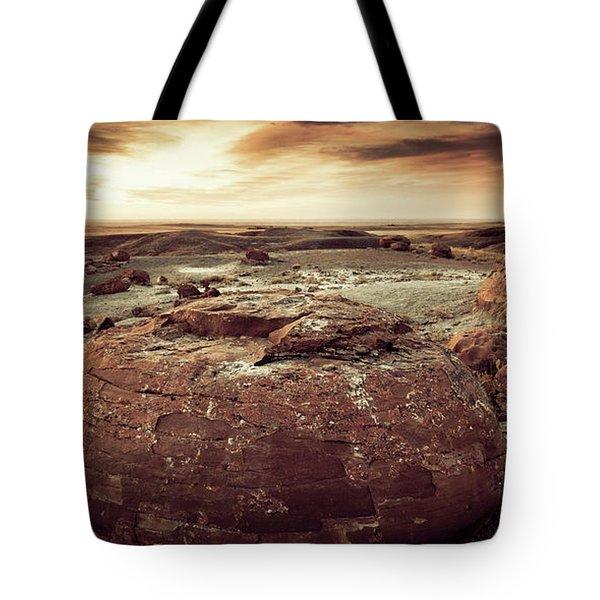Daylight Leaving Redrock Tote Bag