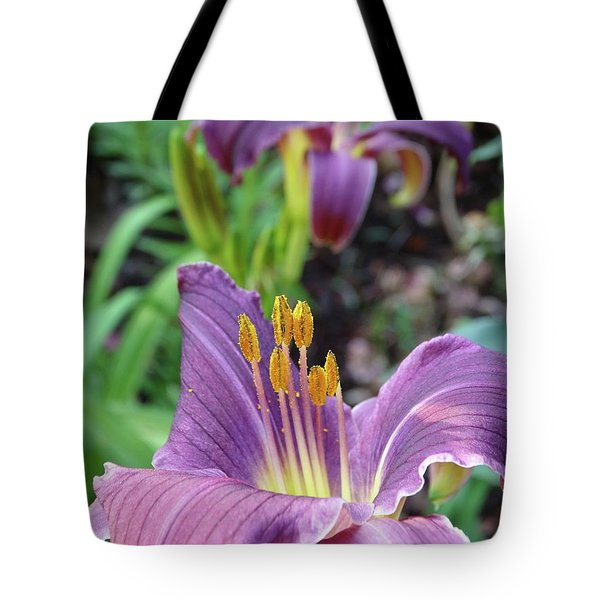 Daylilies In Purple Tote Bag