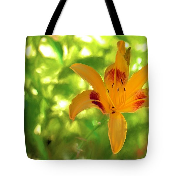 Daylily Tote Bag by Charles Ables