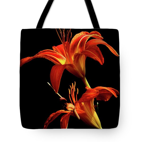 Tote Bag featuring the photograph Daylily Double by Douglas Stucky