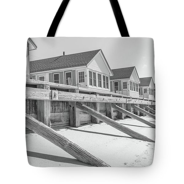 Tote Bag featuring the photograph Days Cottages Row From The Beach by Edward Fielding