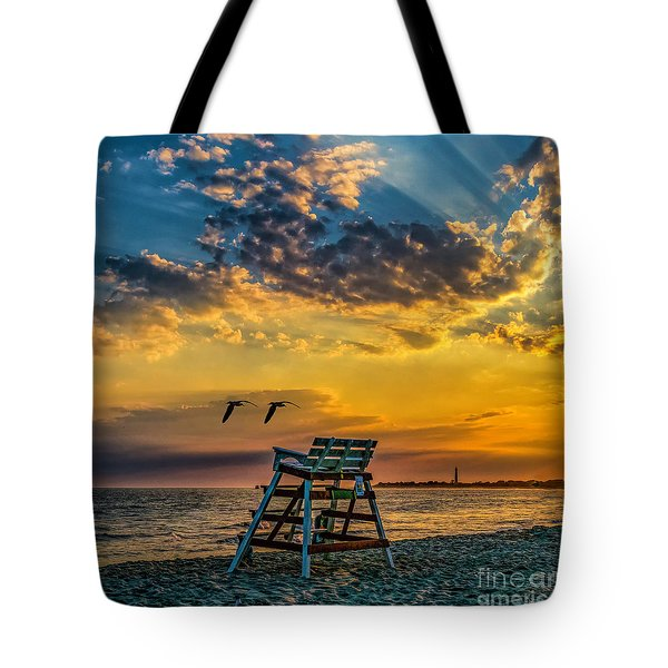 Days End In Cape May Nj Tote Bag