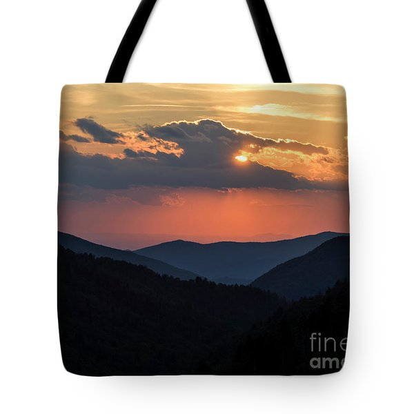 Tote Bag featuring the photograph Days End In The Smokies - D009928 by Daniel Dempster