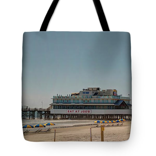 Daytona Beach Pier Pano Tote Bag