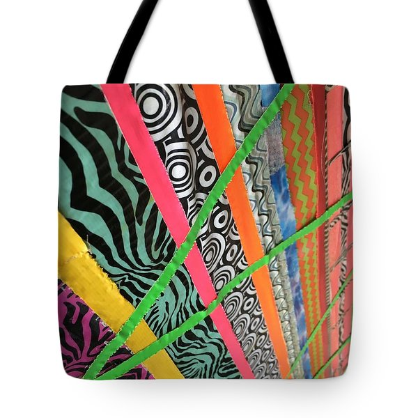 Dazzling Delirious Duct Tape Diagonals Tote Bag