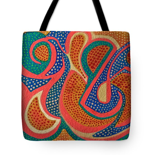 Dotted Motif Tote Bag