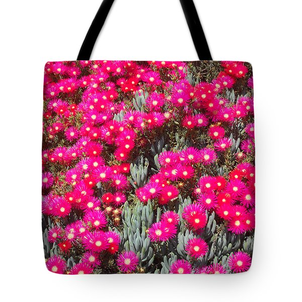 Dazzling Pink Flowers Tote Bag by Mark Barclay