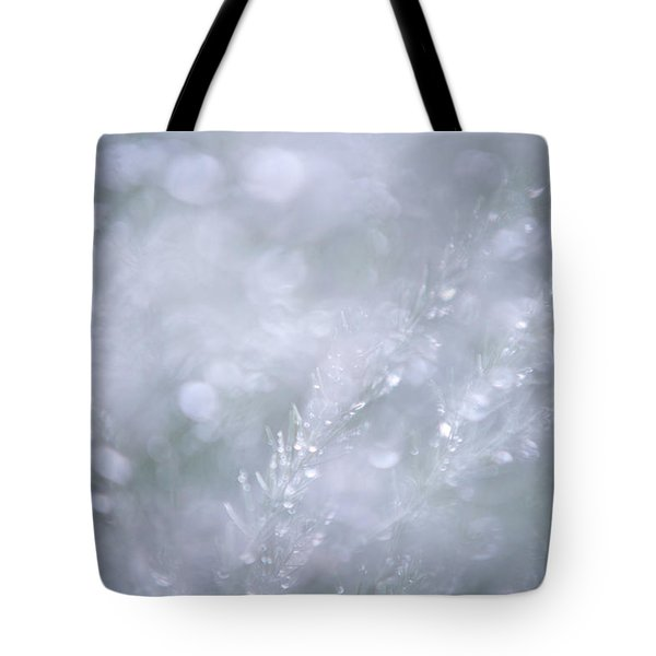 Tote Bag featuring the photograph Dazzling Silver World by Jenny Rainbow