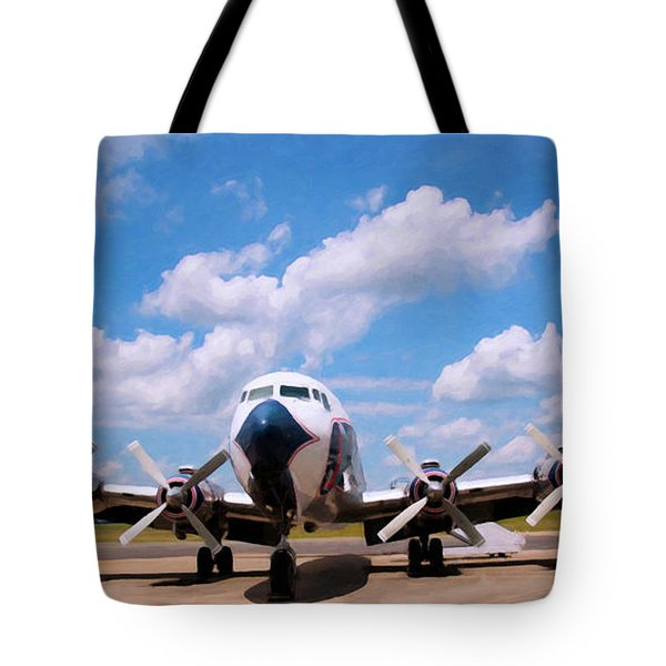Tote Bag featuring the digital art Dc 7 by Chris Flees