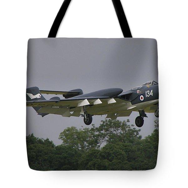 Tote Bag featuring the photograph De Havilland Dh110 Sea Vixen  by Tim Beach