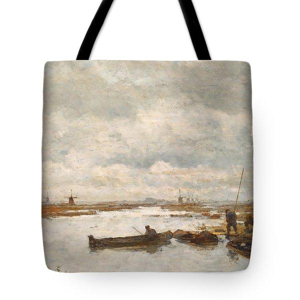 Tote Bag featuring the painting De Kamperveenderij To Gabriel by Nop Briex