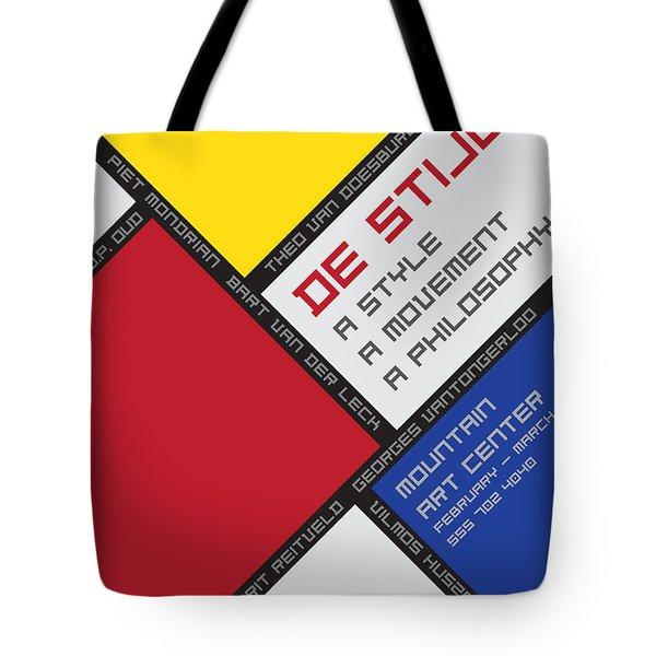 De Stijl Tote Bag by Chuck Mountain