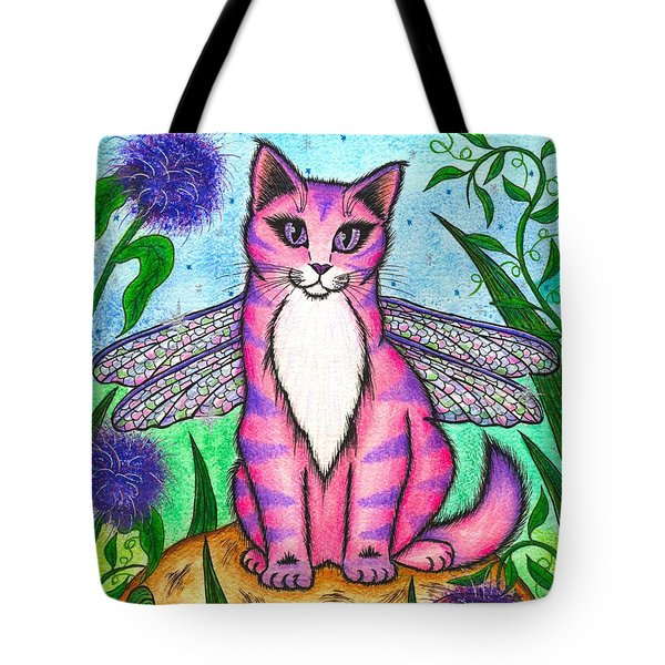 Dea Dragonfly Fairy Cat Tote Bag