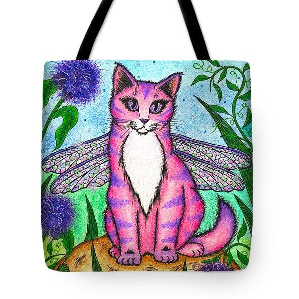 Dea Dragonfly Fairy Cat Tote Bag