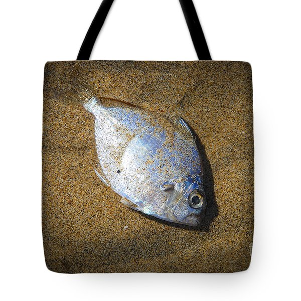 Dead Fish On The Beach Tote Bag
