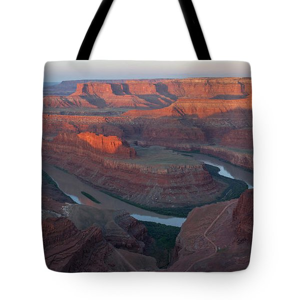 Dead Horse Point Panorama Tote Bag by Aaron Spong